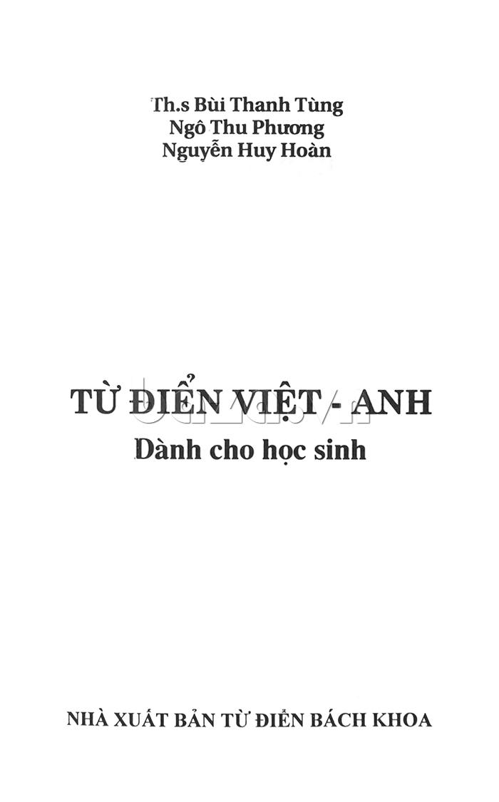 Từ điển Việt - Anh dành cho học sinh - sách tham khảo