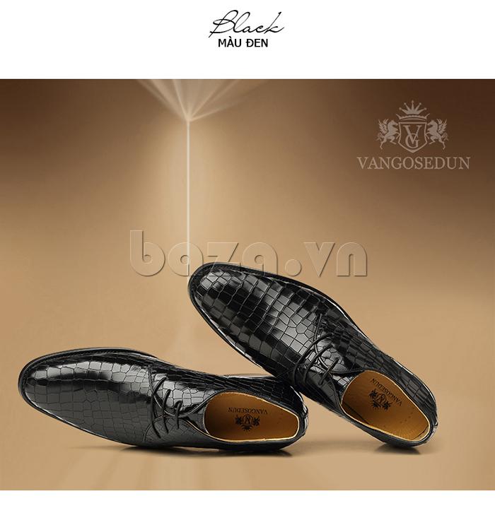 Giày da nam Vangosedun Y10316 mũi nhọn cổ điển thể hiện đẳng cấp