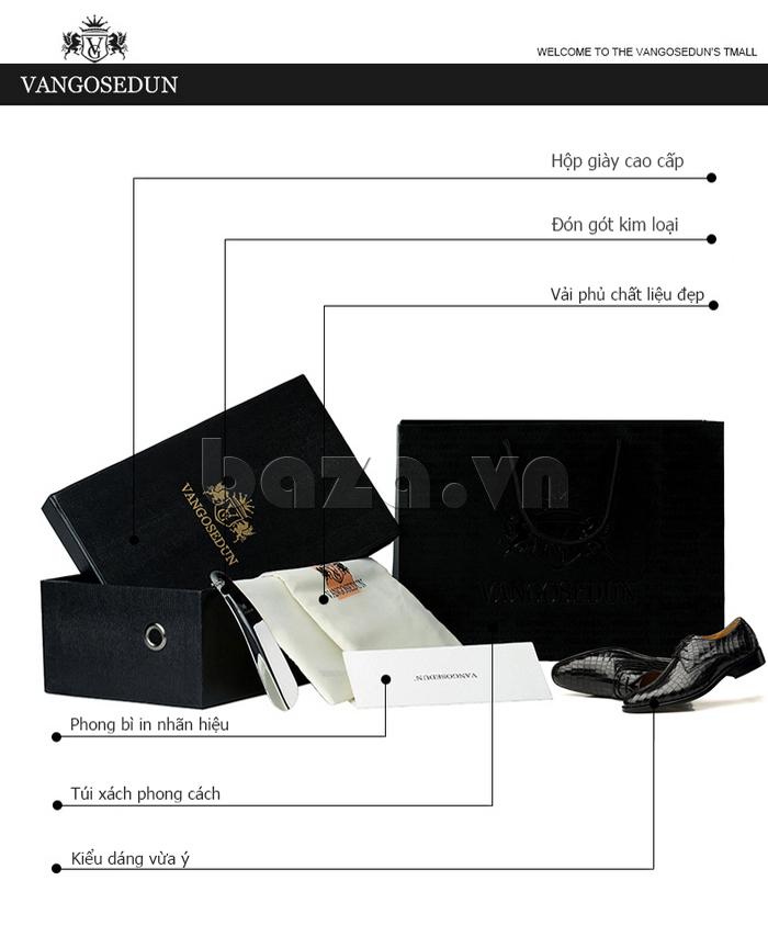 Giày da nam Vangosedun Y10316 thời trang công sở đẳng cấp
