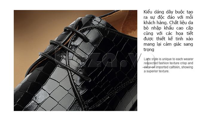 Giày da nam Vangosedun Y10316 dây giày bền chắc