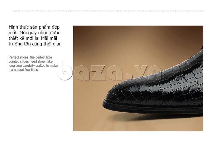 Giày da nam Vangosedun Y10316 hình thức sản phẩm đẹp mắt