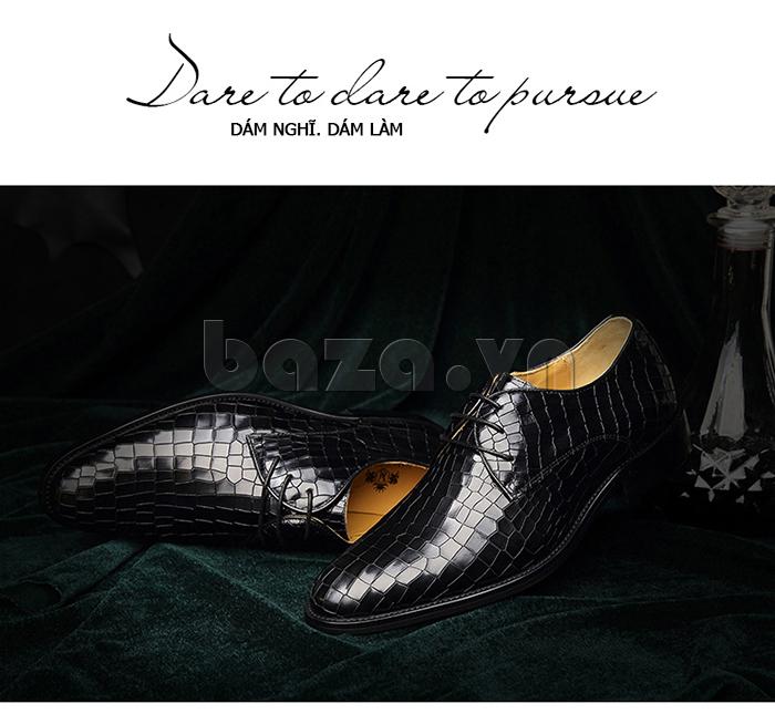Giày da nam Vangosedun Y10316 giúp bạn dám nghĩ dám làm