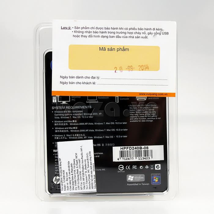 Thẻ nhớ USB HP 240 8G giá rẻ