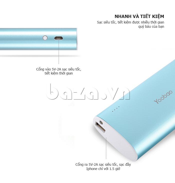 Pin dự phòng di động 13000mAh Yoobao YB-6016 cần thiết