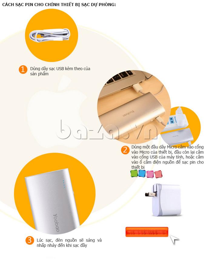 Pin dự phòng di động 13000mAh Yoobao YB-6016 phong phú màu sắc