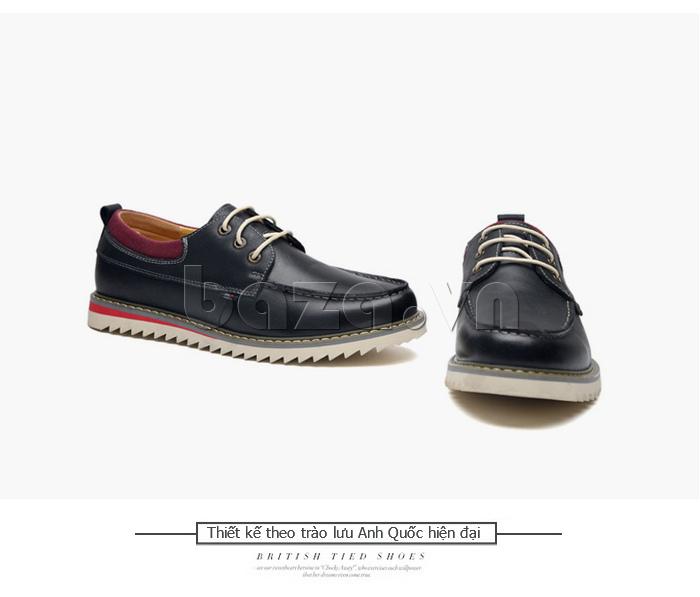 Giày da nam  Simier 8125- giầy nam phong cách cá tính