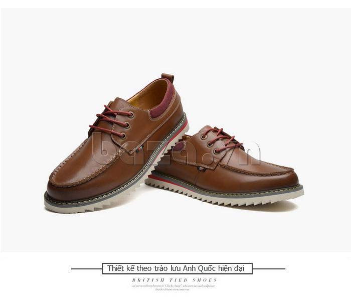 Giày da nam  Simier 8125 - màu nâu trang nhã