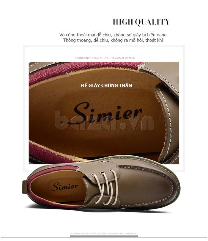 Giày da nam  Simier 8125 - mềm mại