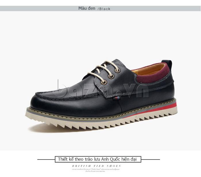 Giày da nam  Simier 8125 - màu đen lịch lãm