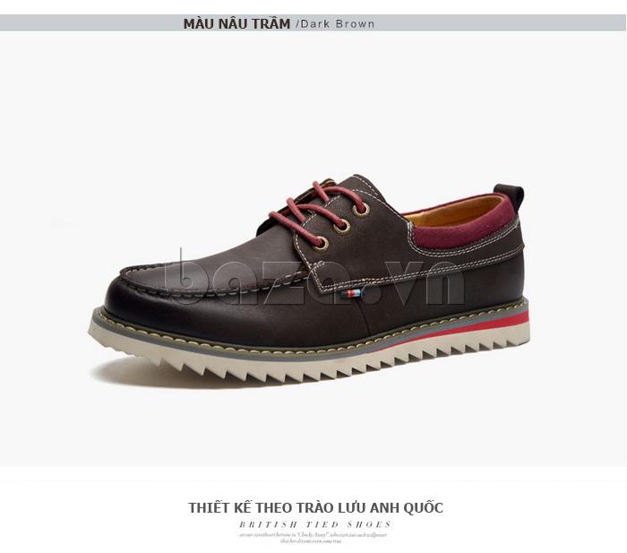 Giày da nam  Simier 8125 - thiết kế mới lạ