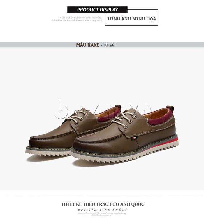 Giày da nam  Simier 8125 - màu kaki