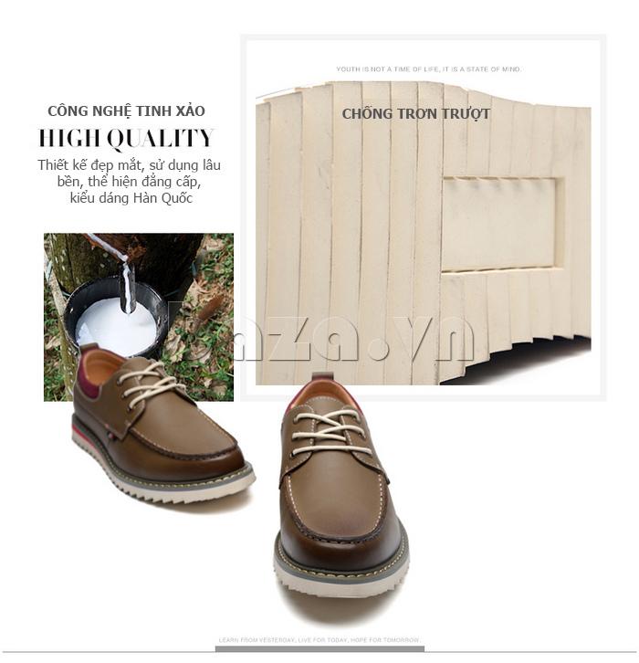 Giày da nam  Simier 8125 - công nghệ tinh xảo