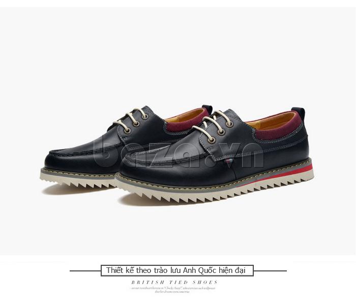 Giày da nam  Simier 8125 - trào lưu hiện đại