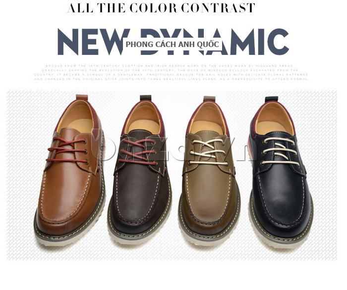 Giày da nam  Simier 8125 - kiểu dáng thời trang