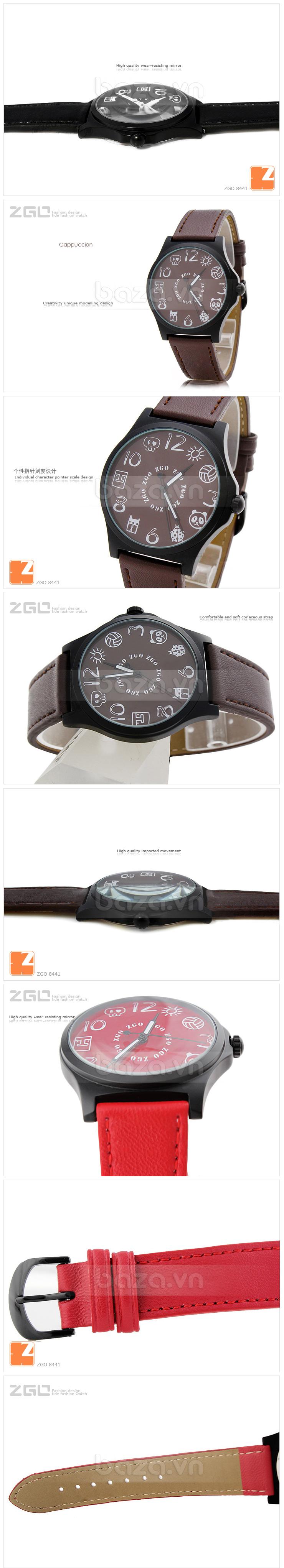Đồng hồ thời trang KIMIO biểu tượng ngộ nghĩnh màu đen sang trọng