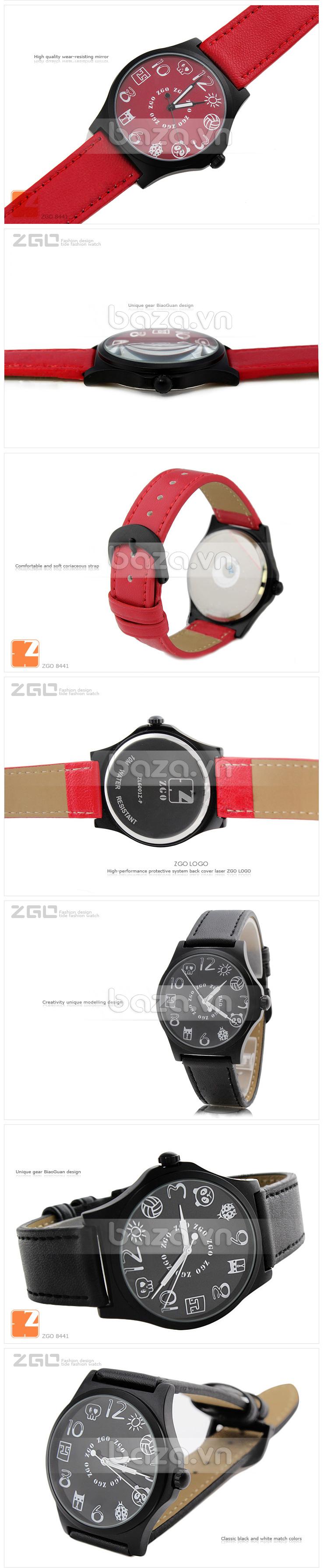 Đồng hồ thời trang KIMIO biểu tượng ngộ nghĩnh mặt kính cao cấp