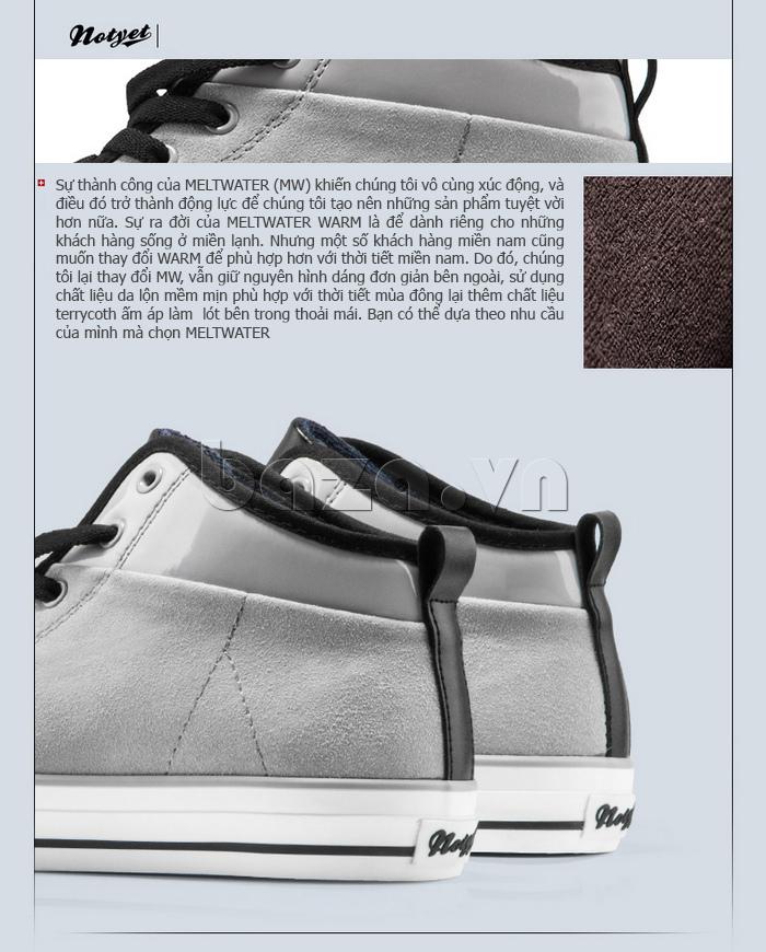 Giày da lộn nam tăng chiều cao Notyet NY-LD4169 thời trang cao cấp