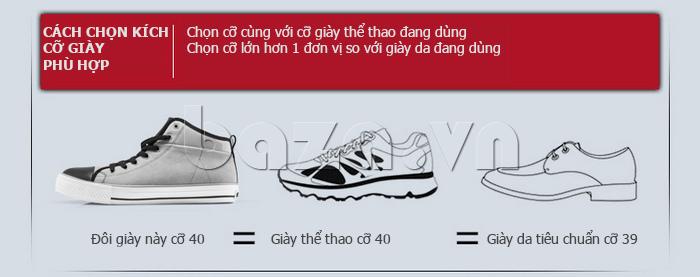 Cách chọn giày phù hợp với cỡ chân