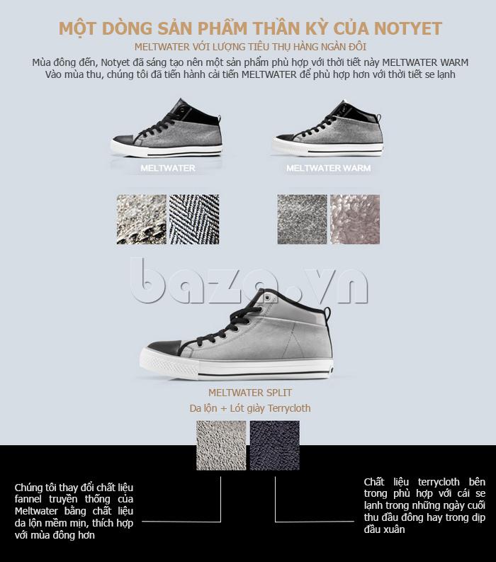 Dòng sản phẩm giày vải cao cổ nam thể hiện cá tính của tuổi trẻ