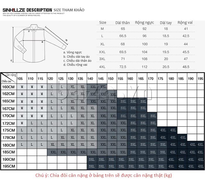Áo nam SINHILLZE Phong cách Thời trang 120363 có nhiều size cho bạn chọn lựa