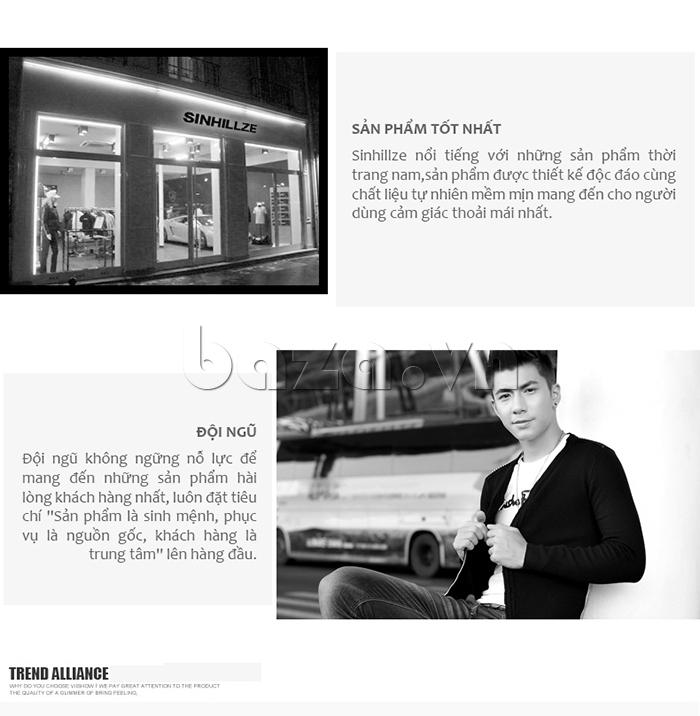 Áo nam SINHILLZE Phong cách Thời trang 120363 là sản phẩm chính hãng chất lượng cao cấp