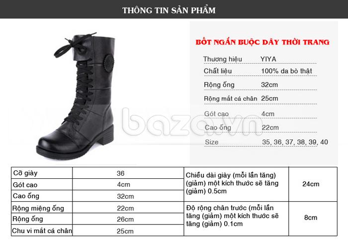 Giày bốt nữ thời trang Yiya YY 998-6 từ Baza