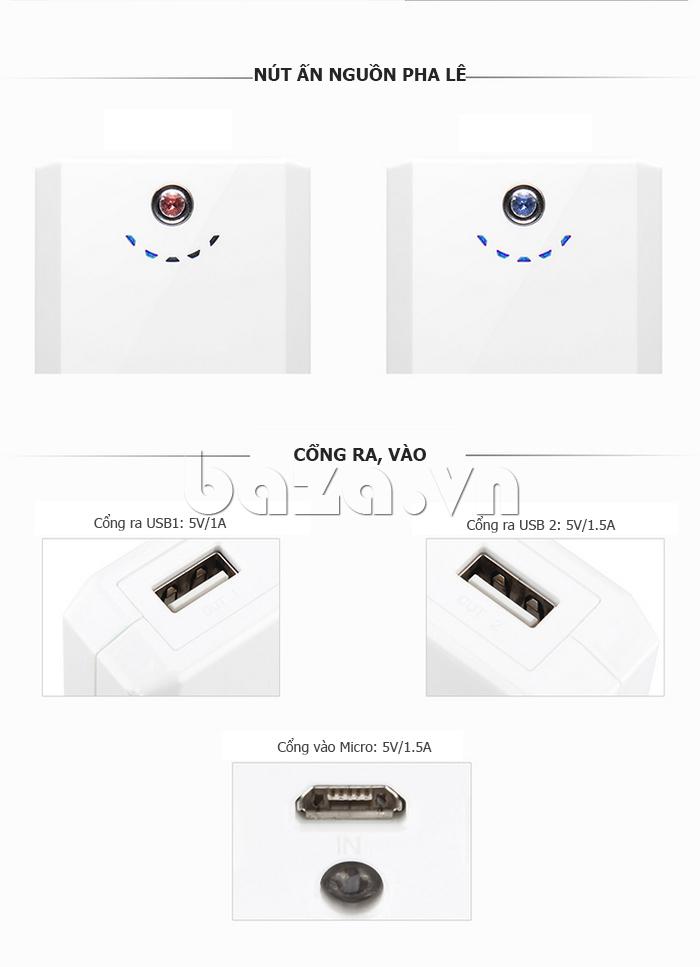 Pin dự phòng di động 10400mAh Yoobao YB645D cao cấp