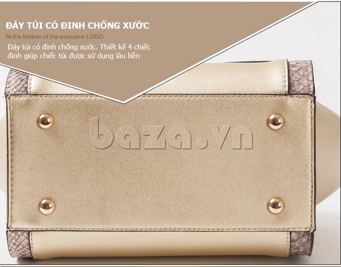 Túi xách nữ khóa xoay Binnitu 6233 tinh tế