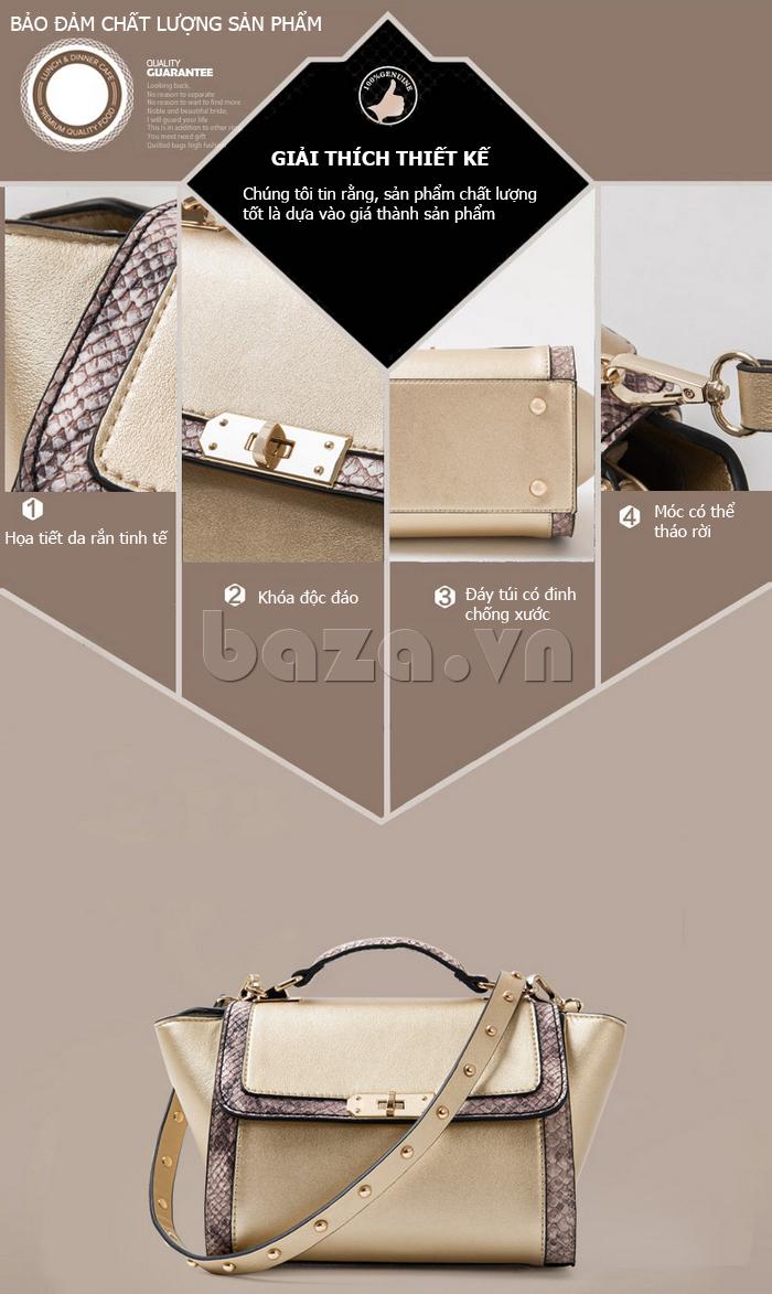 Túi xách nữ khóa xoay Binnitu 6233 - sản phẩm chính hãng