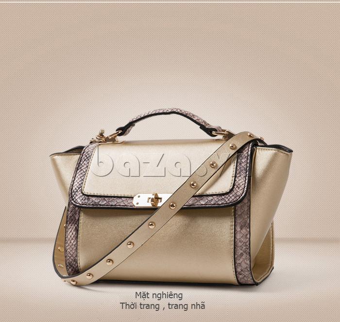 Túi xách nữ khóa xoay Binnitu 6233 hiện đại