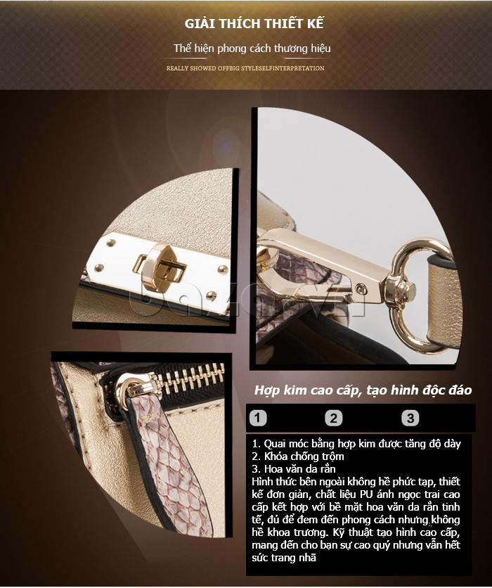 Túi xách nữ khóa xoay Binnitu 6233 - phong cách trẻ trung