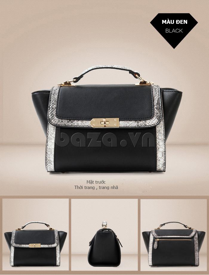 Túi xách nữ khóa xoay Binnitu 6233 thời trang