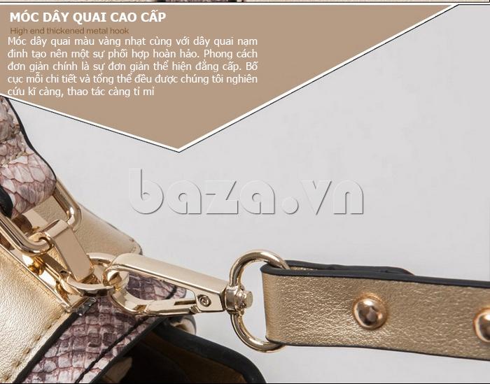 Túi xách nữ khóa xoay Binnitu 6233 cao cấp