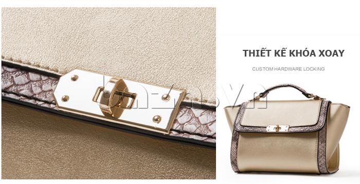 Túi xách nữ khóa xoay Binnitu 6233 - thiết kế độc đáo