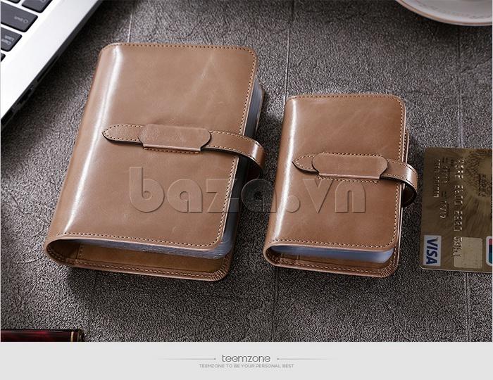 Ví da nữ đựng card hình cuốn sổ Teemzone K848 nhiều ngăn tiện dụng