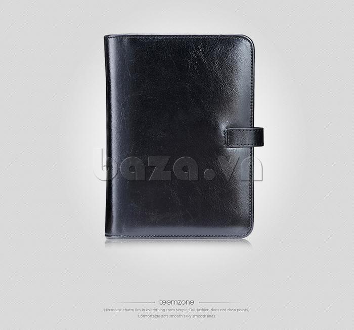 Ví da nữ đựng card hình cuốn sổ Teemzone K848 phong cách cổ điển