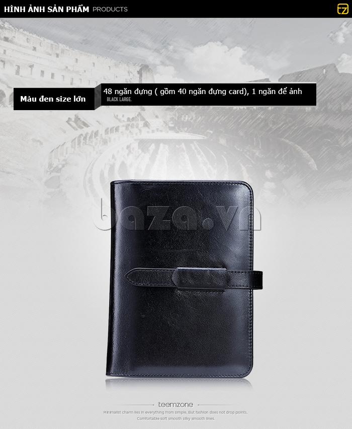 Ví da nữ đựng card hình cuốn sổ Teemzone K848 tiện dụng