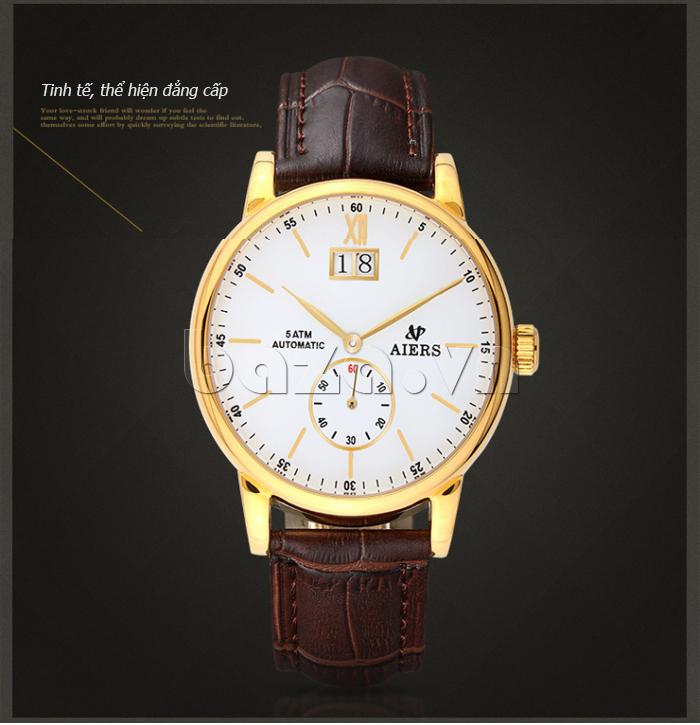 Đồng hồ cơ nam Aiers B163G thể hiện đẳng cấp quý ông