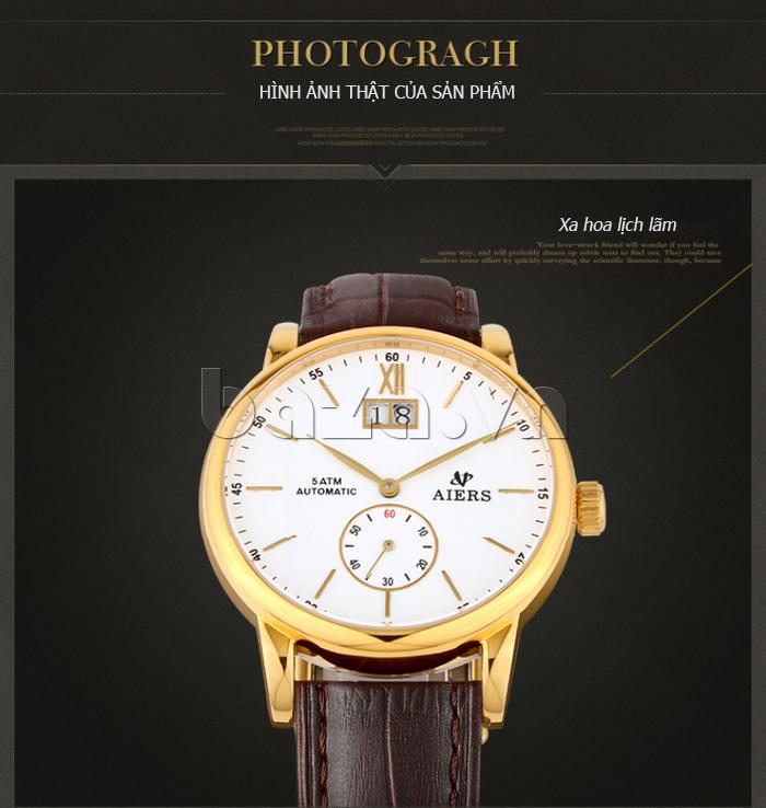 Đồng hồ cơ nam Aiers B163G phong cách xa hoa lịch lãm