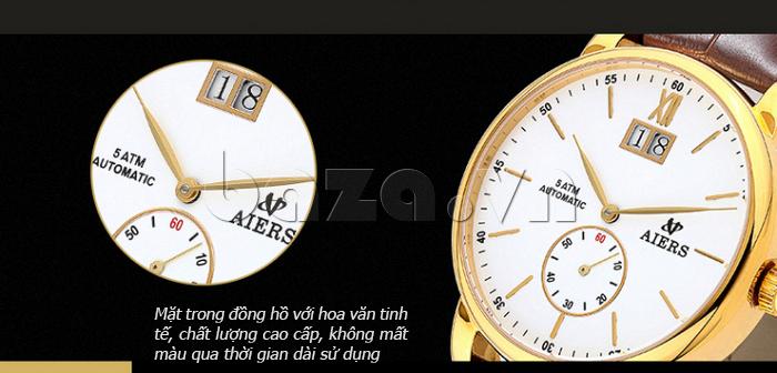 Đồng hồ cơ nam Aiers B163G có ô cửa sổ xem lịch