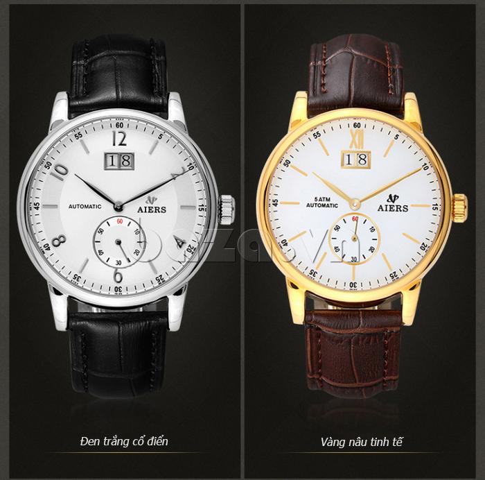Đồng hồ cơ nam Aiers B163G hai phiên bản