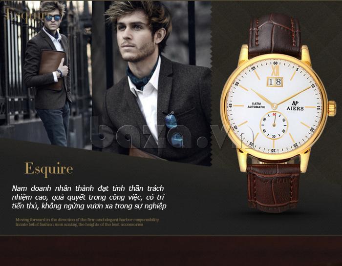 Đồng hồ cơ nam  thời trang Aiers B163G