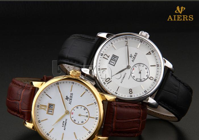 Đồng hồ cơ nam Aiers B163G - baza.vn