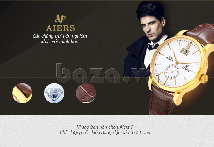 Đồng hồ cơ nam Aiers B163G