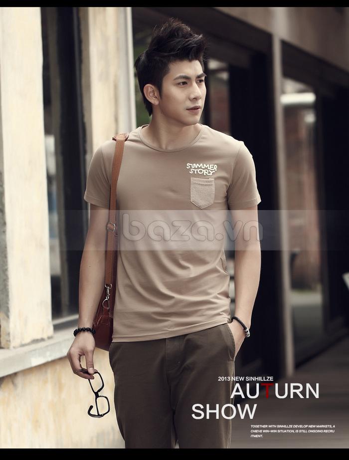 Áo T-shirt nam Sinhillze phong cách lịch lãm cổ tròn đơn giản nhưng nam tính và mạnh mẽ