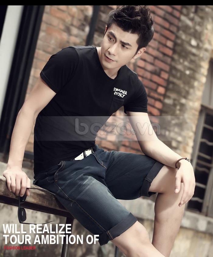 Áo T-shirt nam Sinhillze phong cách lịch lãm sở hữu màu đen sang trọng