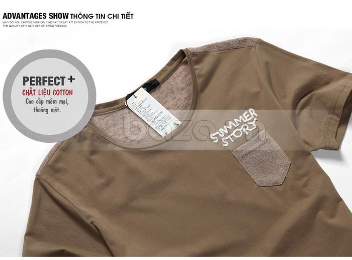Thông tin chi tiết của sản phẩm áo T-shirt nam Sinhillze phong cách lịch lãm