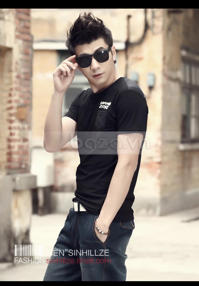 Áo T-shirt nam Sinhillze phong cách lịch lãm dễ mix cùng các phụ kiện thời trang khác nhau