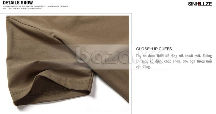 Áo T-shirt nam Sinhillze phong cách lịch lãm các chi tiết được may tỉ mỉ, công phu