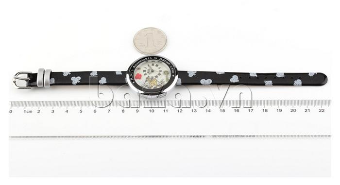 Đồng hồ nữ Mini MN1093 Mặt thỏ ngộ nghĩnh dây da độ dài lý tưởng